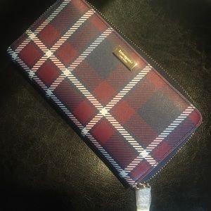 NWT Kate Spade Plaid Wallet